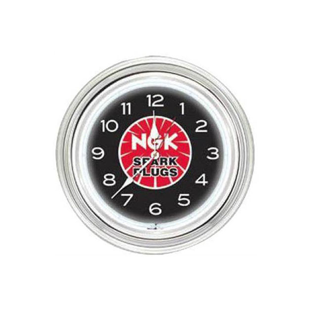 """Picture of Ngk 16"""" Round Neon Clock NGK Spark Plugs NGK235"""