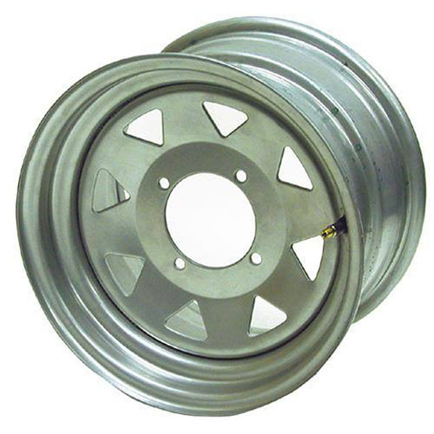 Picture of Steel Wheel - 12x7 - 5+2 Offset - 4/110 - Black Pro-Wheel Racing Components 09-20050