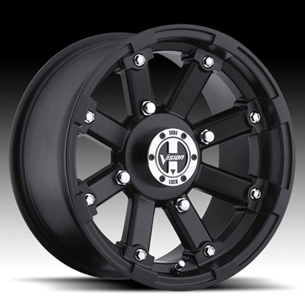 Picture of 2011 Honda MUV700 Big Red Type 393 Lock Out Wheel - 14x7 - 4+3 Offset - 4/110 - Black Vision Wheel 393-147110MB4
