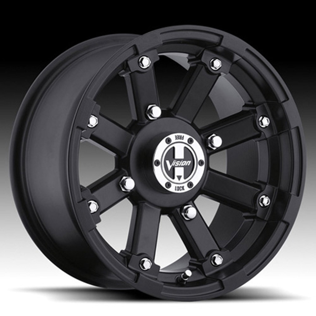 Picture of 2012 Can-Am Outlander 650 EFI Type 393 Lock Out Wheel - 14x7 - 4+3 Offset - 4/136 - Black Vision Wheel 393-147136MB4